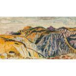 Eduard Bäumer* Dark mountains, 1959<
