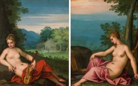 Hans Rottenhammer Two Muses (counterparts)