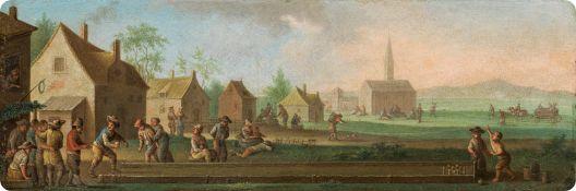 Künstler des 18. Jahrhunderts Merry skittle game