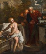 Italienischer Meister Bathing Susanna, 17th century