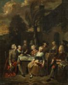 Jan Baptist Lambrechts Merry company at table