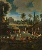 Flämische Schule Park with courtly society in summer, 17th century