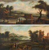 Circle of Ignaz Franz Joseph Flurer River landscapes (pendants)
