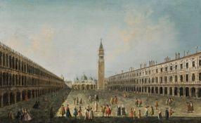"""Circle of Michele Marieschi Piazza San Marco in Venice (""""Piazza di San Marco verso la basili"""