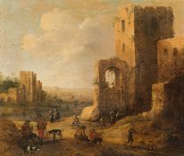 Joost Cornelisz. Droochsloot Peasantry in front of the ruins of a castle, 165(4)