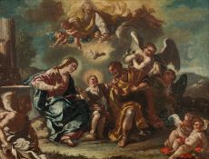 Attributed to Jacopo Cestaro Holy family, c. 1740/45