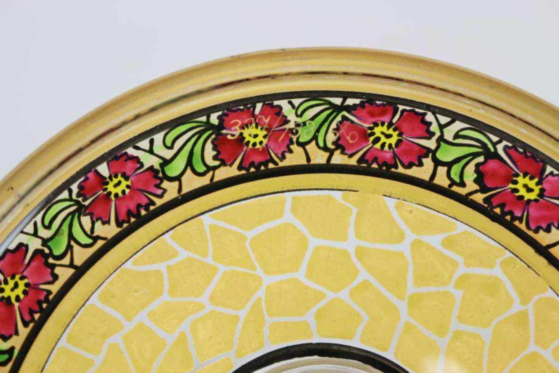 Glaspokal, Julius Mühlhaus & Co, Haida, Goldauflage mit in gerahmten Medaillons eingefügten - Bild 2 aus 2