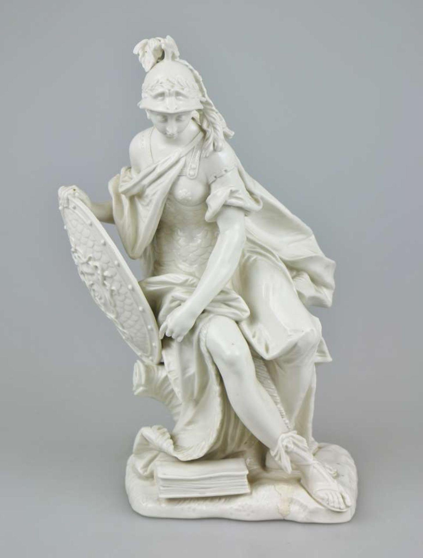 Minerva, Modell von Dominikus Auliczek (1734-1804) um 1770, Nymphenburg um 1900, Weißporzellan