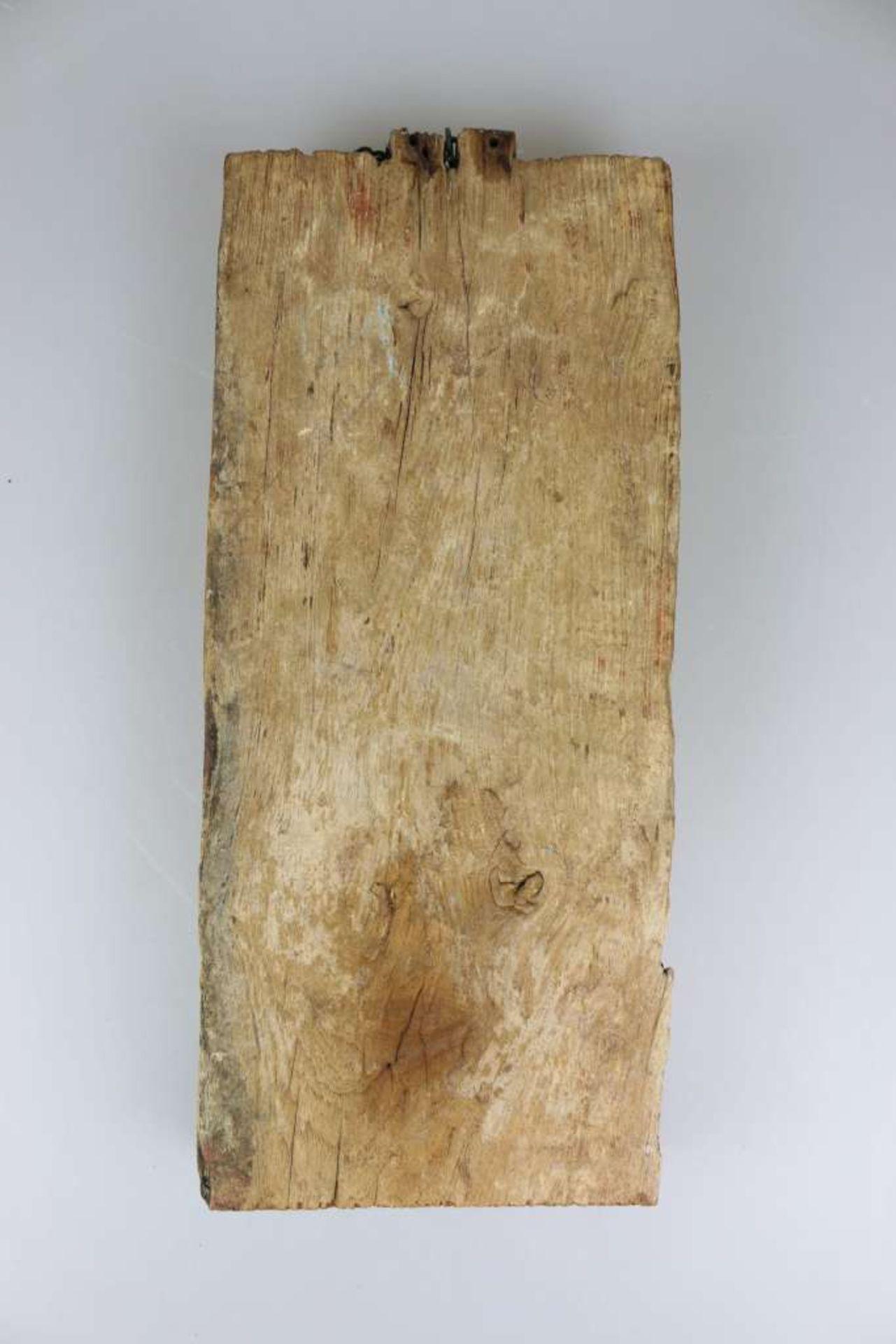 Prozessionsholz, Gott Vishnu, Indien, 19./ 20. Jh., Relief geschnitzt, Darstellung des vierarmi - Bild 2 aus 2