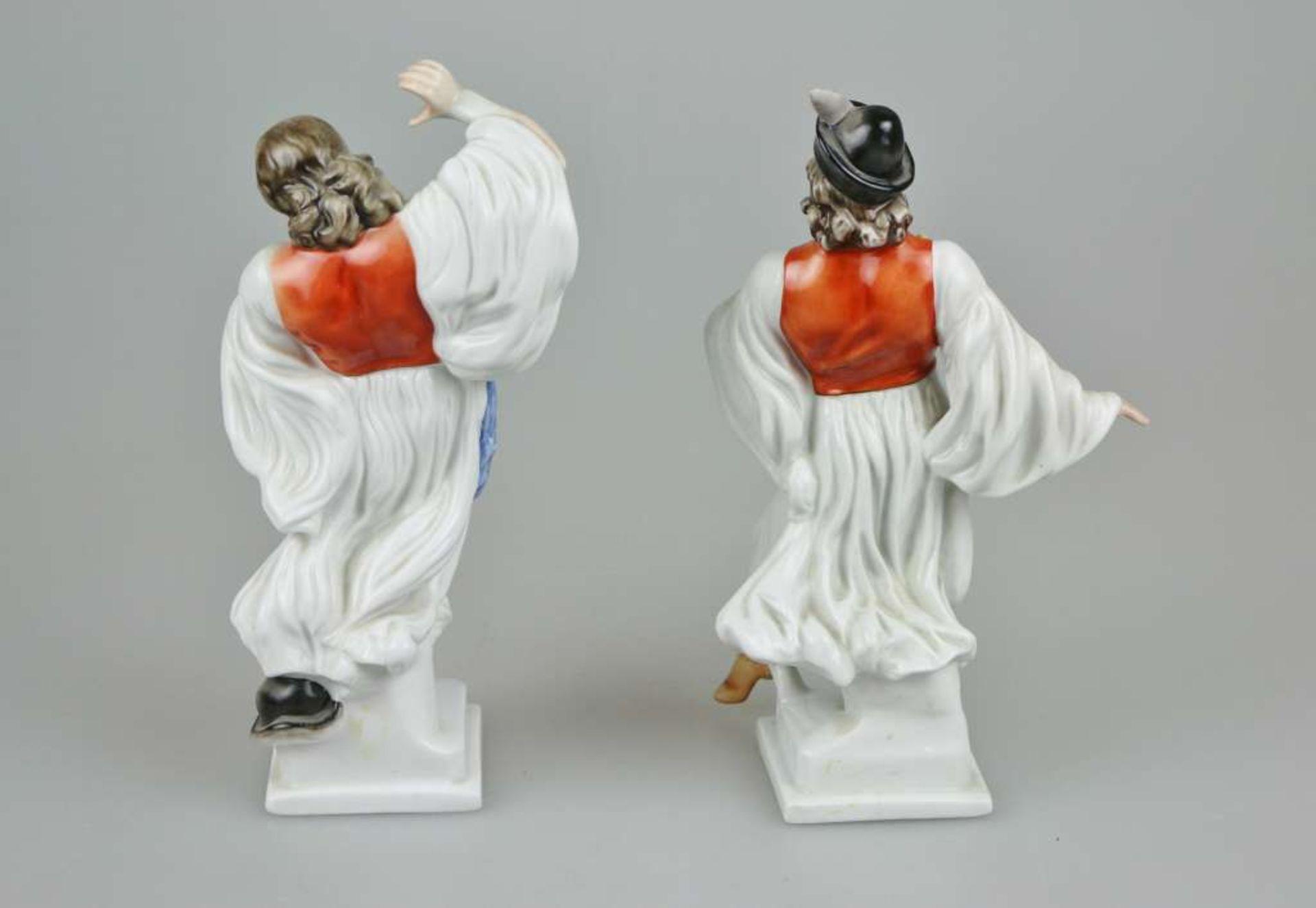 Paar Herend Porzellanfiguren ¨Ungarische Puszta-Tänzer in traditioneller Tracht¨, 2. H. 20. - Bild 2 aus 4