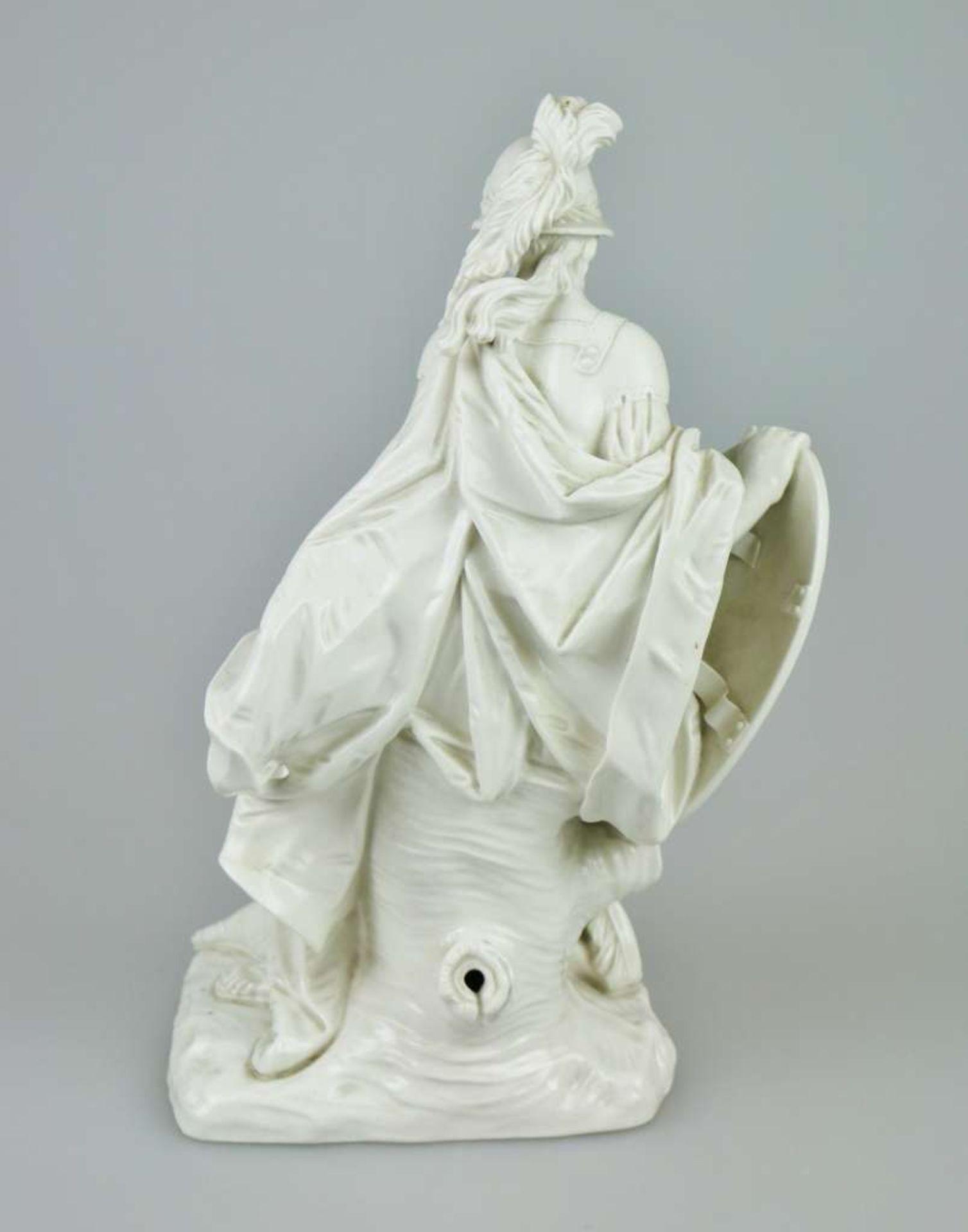 Minerva, Modell von Dominikus Auliczek (1734-1804) um 1770, Nymphenburg um 1900, Weißporzellan - Bild 2 aus 7