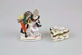 Gebr. Voigt Porzellanmanufaktur, Liebespaar beim Abschied, Anfang 20. Jh., polychrom gefasst mi