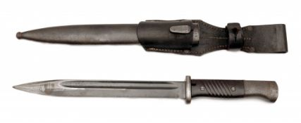 K98 Bayonet by E. & F. Hörster with Scabbard and Frog