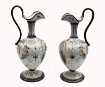 Paar krugförmigen Vasen, Cantagalli