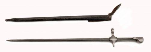 Radfahrerbajonett Mod. 1889/92 mit Scheide