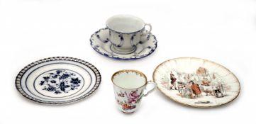 Konvolut von Gegenständen aus Porzellan und feinem Steingut