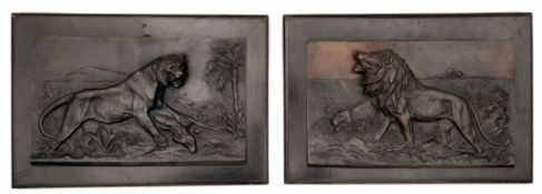Paar Relieftafeln