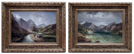 Paar Hochgebirgslandschaften, Georg Geyer