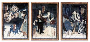 Triptych von Utagawa Kunisada