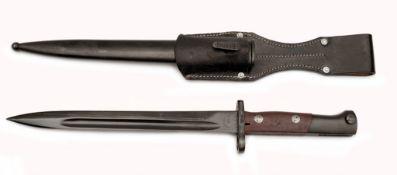 Jugoslawisches Mauserbajonett M 48 (Preduzece 44) mit Scheide