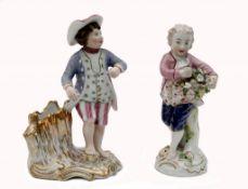 Zwei Porzellan-Gärtner