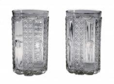 Ein Paar Empire-Glasbecher