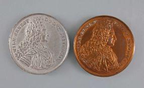 2 Medaillen Wilhelm Ernst v. Sachsen-Weimar Jacobskirche 1913