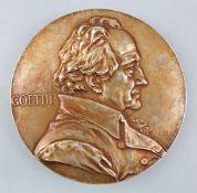 Große Plakette / Medaille Goethe 1899