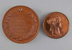 2 x Medaillen Maria Pawlowna Sachsen-Weimar-Eisenach