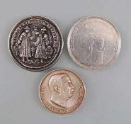 Konvolut 3 Medaillen