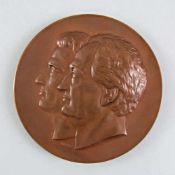 Bronze-Medaille Goethe Schiller Ehrengabe der Stadt Weimar