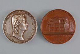 2 Medaillen Schillers Haus Weimar 1847