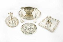 Set of silver objects