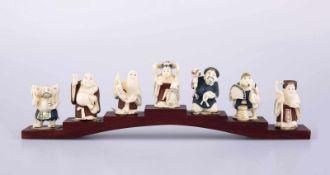 Set of Netsukes - the seven gods of luck