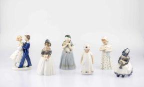 5 girl figures and a dancing couple