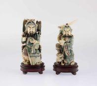 Pair of Okimono - Scholar and Warrior