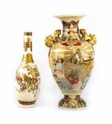 Set of Satsuma vases