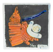 WandkeramikPortanier Edition Vallauris, wohl 1950, Entwurf von Gilbert Portanier, Keramik, 24 cm x