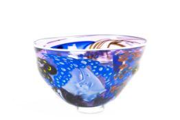 'Celestial Bowl'Unbekannter Künstler, 1996, transparentes Kristallglas, mundgeblasen mit