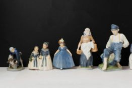 9 Figuren Royal Copenhagen9, Royal Copenhagen, Porzellan, 9 Porzellanfiguren Royal Copenhagen,