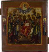 Ikone 'Heilige Dreifaligkeit mit Silberoklad'
