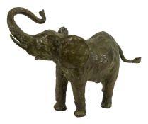 Kurt Moser (1926 Regensburg - 1982 München)'Afrikanischer Elefantenbulle', 1982, Bronze, Länge 54