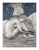 Pietro Annigoni (1910 - 1988)Silber Relief 'Il Germoglio' (Der Sprössling), 925 Silber (250 g), 22,8