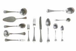 Speisebesteck für 12 Personen 80-tlg., Wilkens & Söhne, Silber 800, 12 Gabeln, 12 Messer, 12