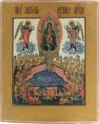Ikone 'Gottesmutter als lebensspendender Quell' Zentralrussland, 19. Jahrhundert, Eitempera auf