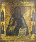 Ikone 'Der heilige Sergej von Radonesch' Russland, 19. Jahrhundert, Eitempera auf Holz, 30,5 cm x