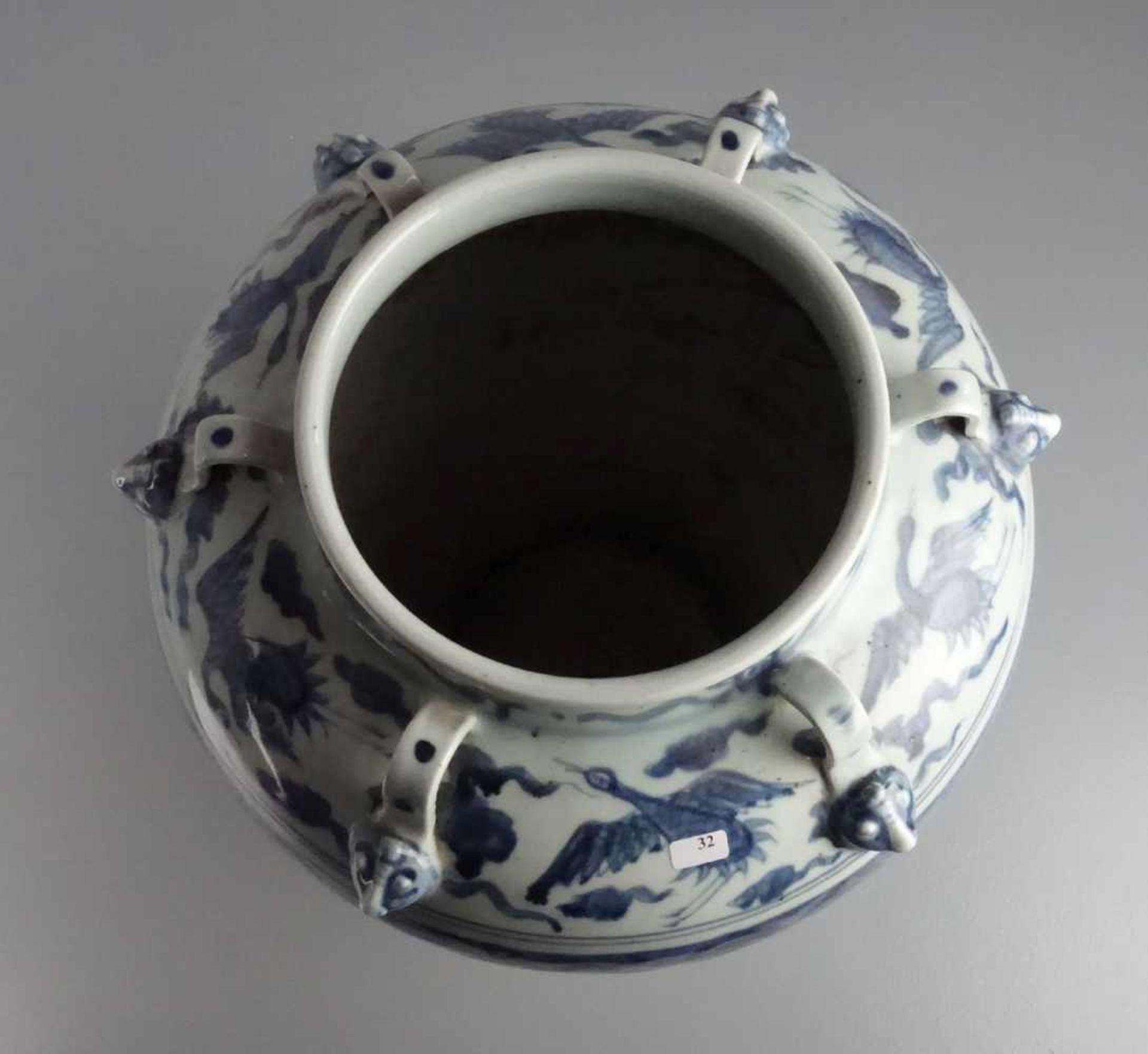 Los 594 - CHINESISCHE VASE, Porzellan (ungemarkt), späte Qing Dynastie / chinese vase, late Qing dynasty....