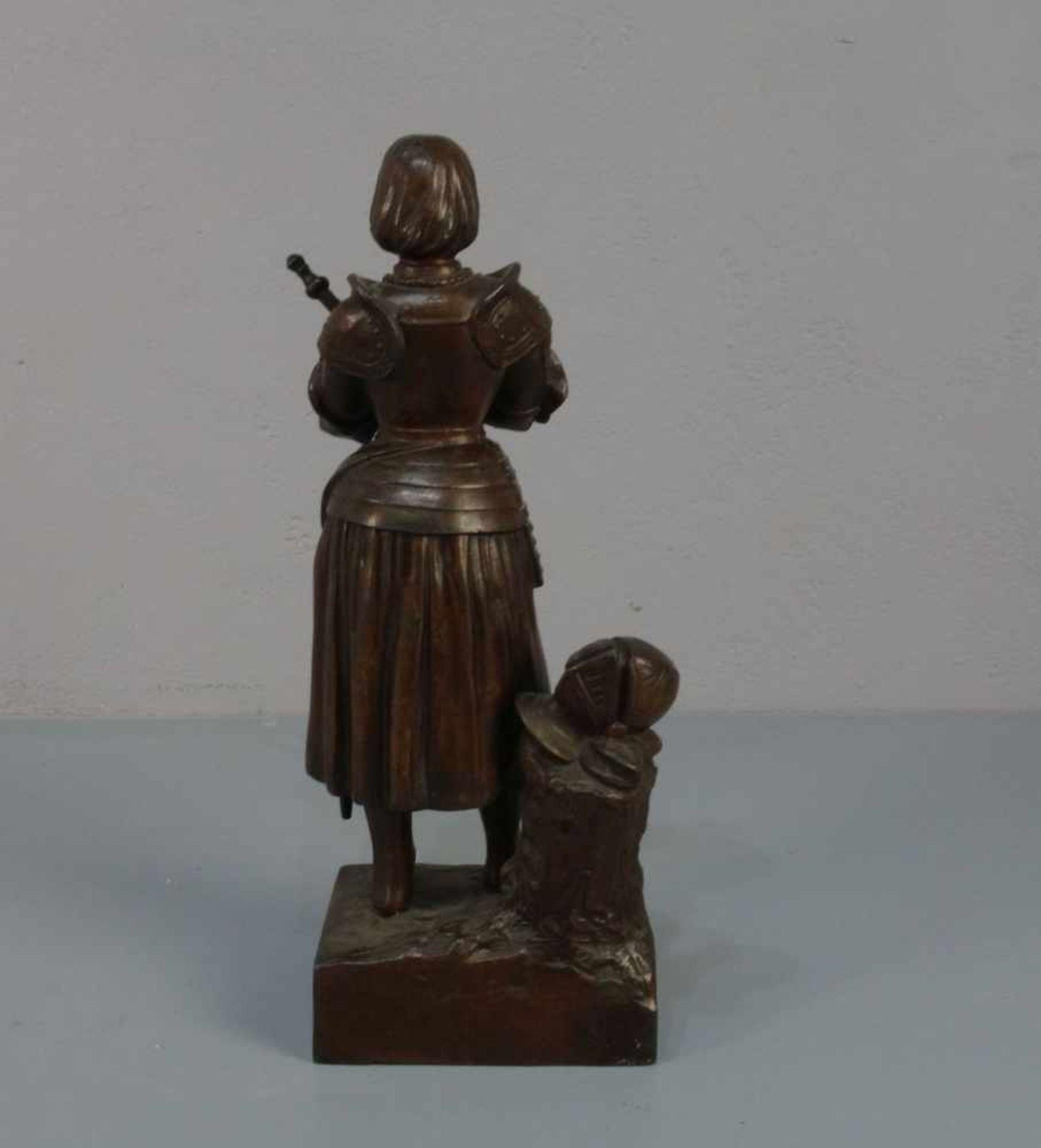 """BILDHAUER DES 19./20. JH., Skulptur / sculpture: """"Jeanne d'Arc avant le Combat (Jeanne d'Arc vor dem - Bild 3 aus 4"""