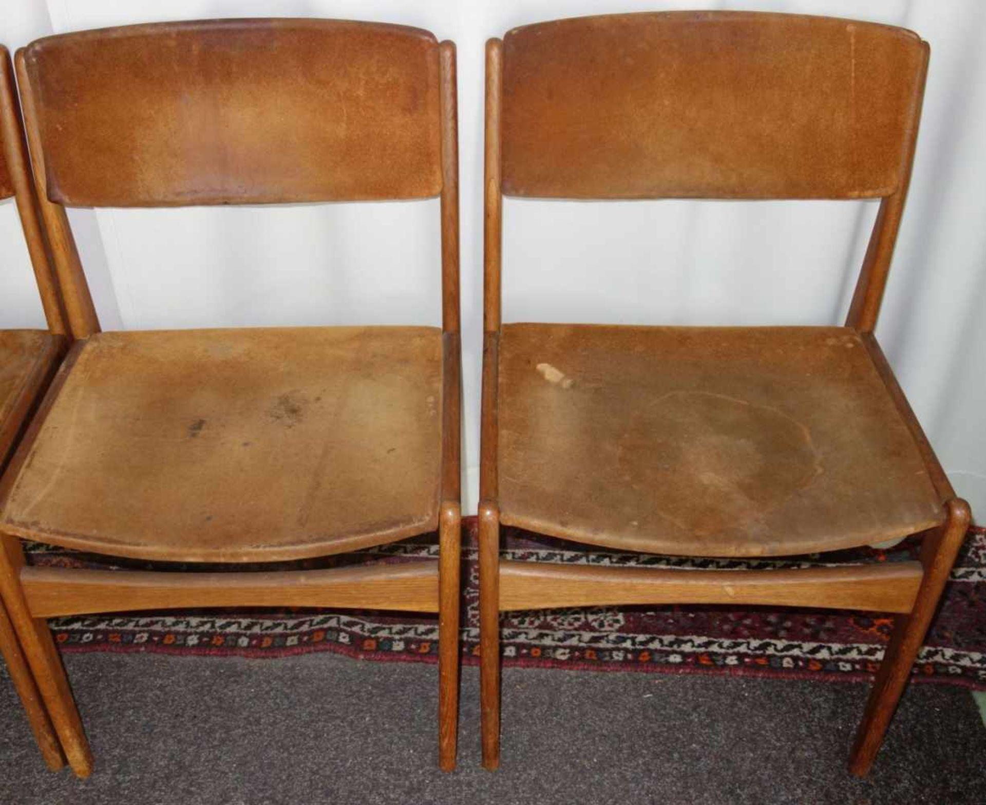 Los 288 - 4 STÜHLE / ESSZIMMERSTÜHLE / chairs, dänisches Mid Century Design, 1960er Jahre, Frem Röjle /...