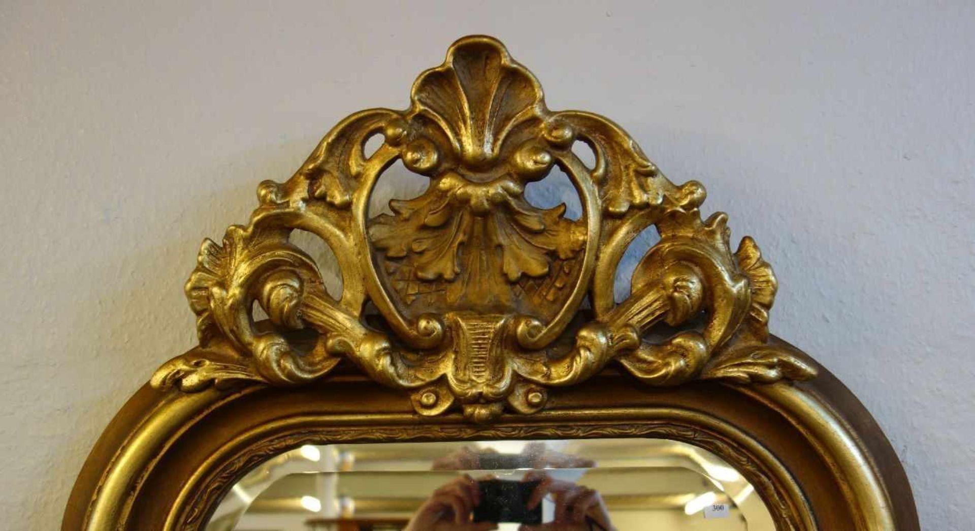 Los 300 - SPIEGEL / SALONSPIEGEL / ANKLEIDESPIEGEL / mirror. Facettierter und an den oberen Ecken...